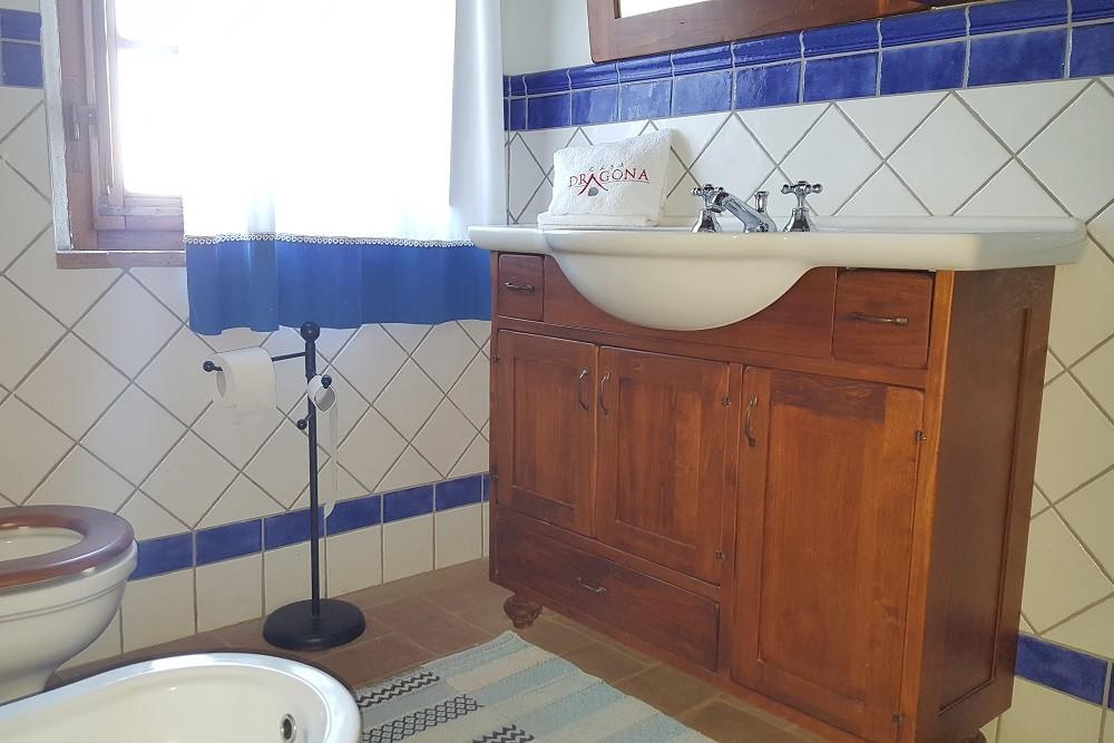 Bagno con doccia-Appartamento Leonardo-LaDragona