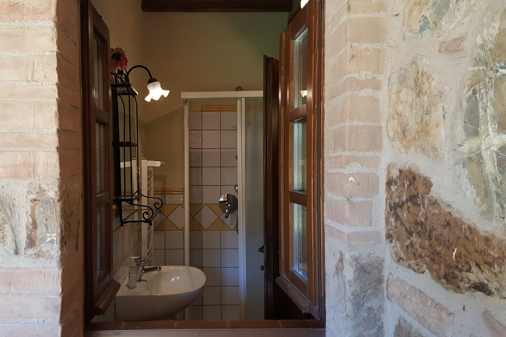 bagno con doccia- Monolocale Caravaggio - La Dragona