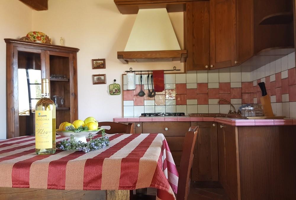 cucina-Appartamento Michelangelo - La Dragona